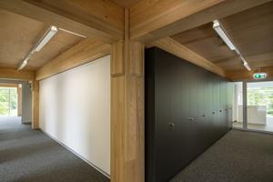 """Das Bild zeigt den Holzskelettbau des """"House of Natural Resources"""" bei der Fertigstellung im Rauminnern Foto: Marco Carocari <br /> <br /> <br />"""