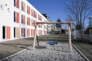 Das fertiggestellte Flüchtlingsheim in der Schleißheimer Straße