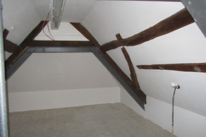 Dachgeschoss Fachwerkhaus nach Abschluss der Sanierungsarbeiten<br />