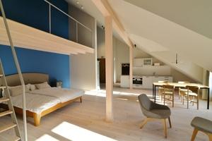 Auch im Innenbereich des Haus Luftikus wurde viel mit Holz gearbeitet