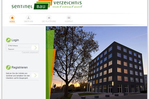 """Auf <a href=""""http://www.sentinel-bauverzeichnis.eu"""" target=""""_blank"""">www.sentinel-bauverzeichnis.eu</a> kann über eine Suchmaske gezielt recherchiert werden<span class=""""bildnachweis"""">Screenshot: Sentinel</span>"""