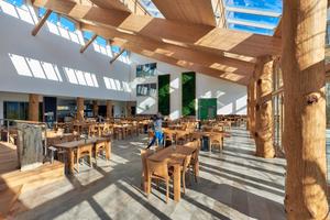 Der sonnendurchflutete Innenraum, in dem Holz, Glas und Naturstein in puristischer Form dominieren, bietet eine erholsame und wohltuend entspannte Atmosphäre