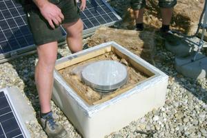 Dachaustritt in der vorbereiteten und gedämmten Box
