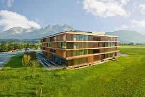 """Im Themenblock """"Modulbauweise"""" wurde das Stammhaus von Egger in St. Johann in Tirol vorgestellt <span class=""""bildnachweis"""">Foto: Egger/Christian Vorhofer</span>"""