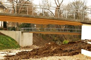 Im Rahmen der Landesgartenschau in Schwäbisch Gmünd wurden zwei HBV Brücken gebaut<br />