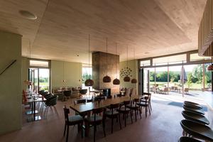 """Die akustische Planung war ein wichtiger Aspekt für die Ausgestaltung der Innenräume<span class=""""bildnachweis"""">Foto: Lignotrend</span>"""