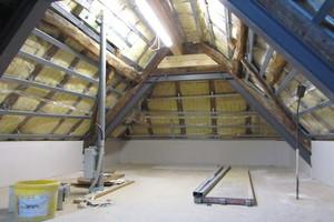 Dachgeschoss Fachwerkhaus während der Sanierung<br />
