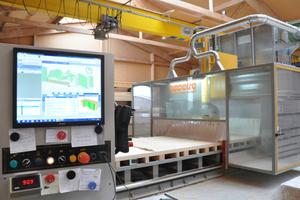 Produktion der Elemente auf der hauseigenen CNC Maschine