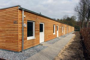 Gebaut in zwei Monaten: Das Flüchtlingsheim im Ortsteil St. Vit in Rheda-Wiedenbrück