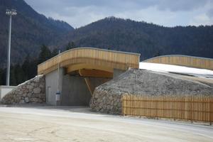 Die Brücke im Skistadion von Ruhpolding<br />